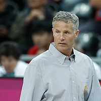 31 July 2012: Australia head coach Brett Brown is seen during the 82-70 Spain victory over Australia, during the men's basketball preliminary, at the Basketball Arena, in London, Great Britain.