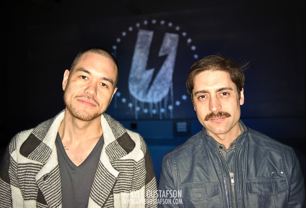 Washington, D.C. (March 17, 2010) - DJ Jesse Tittsworth (L) and DJ Will Eastman (R) at the opening night of their new dance club, U Street Music Hall. (Photo by Kyle Gustafson)
