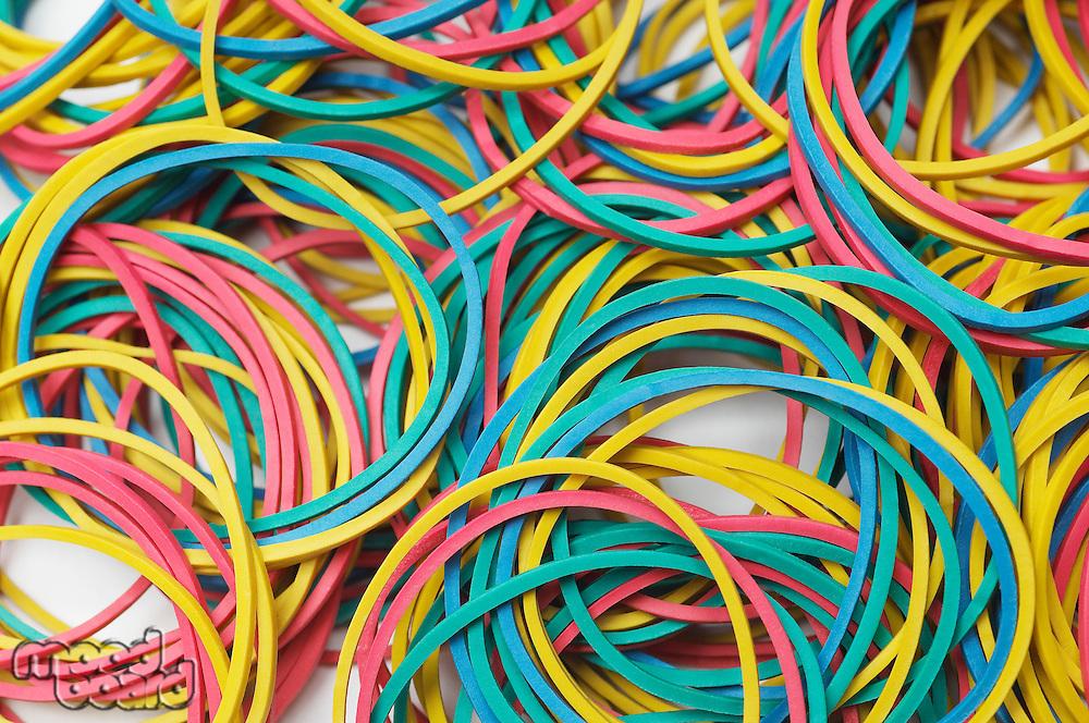 Multi colored rubber bands