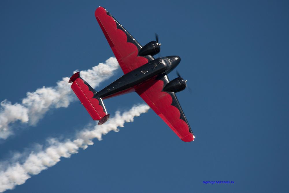 Beech 18 air show stunt plane