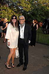 VIDAL SASSOON and his wife RONNIE at the annual Serpentine Gallery Summer Party in association with Swarovski held at the gallery, Kensington Gardens, London on 11th July 2007.<br />
