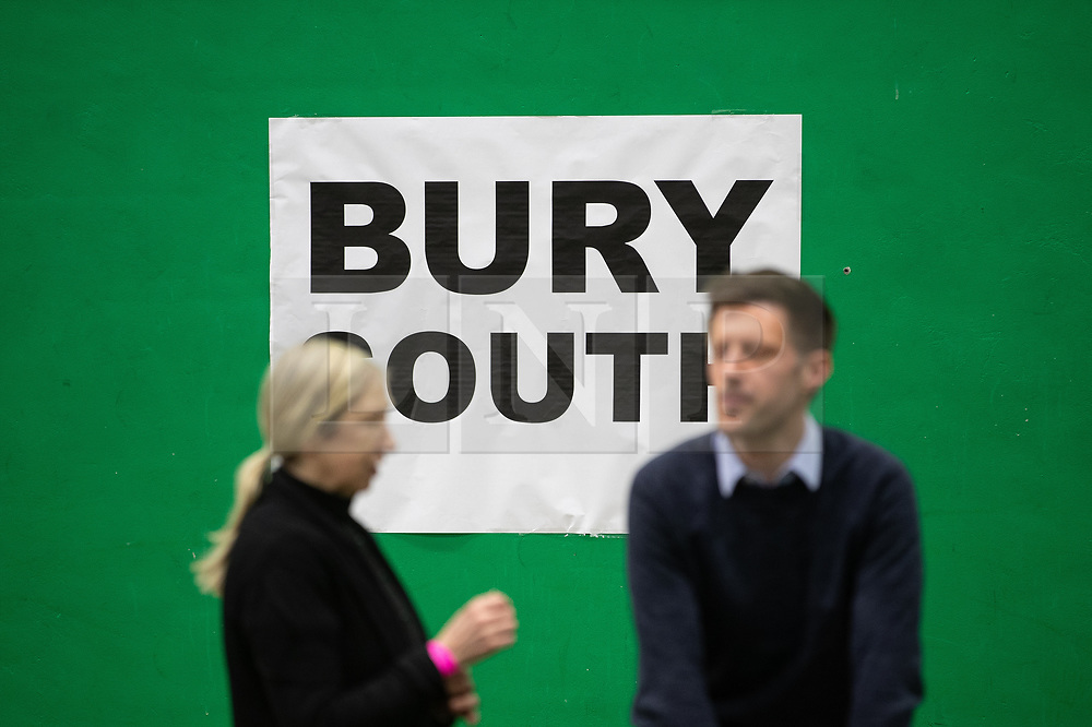 © Licensed to London News Pictures . 12/12/2019. Bury, UK. Final preparations are made at the the count for seats in the constituencies of Bury North and Bury South in the 2019 UK General Election , at Castle Leisure Centre in Bury . Photo credit: Joel Goodman/LNP