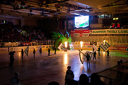 Ales Music (HDD Tilia Olimpija, #16) during ice-hockey match between HDD Tilia Olimpija and EHC Liwest Black Wings Linz at fourth match in Semifinal  of EBEL league, on March 13, 2012 at Hala Tivoli, Ljubljana, Slovenia. (Photo By Matic Klansek Velej / Sportida)