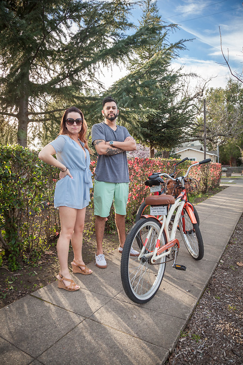 "Napa residends Katie Etie and her boy friend Eladio Miranda on a ""stay-cation"" in Calistoga."