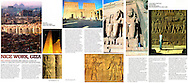 Tear sheet from TNT magazine of an article I wrote and photographed on Egypt.