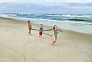Kids playing on the beach, Cape Cod, USA