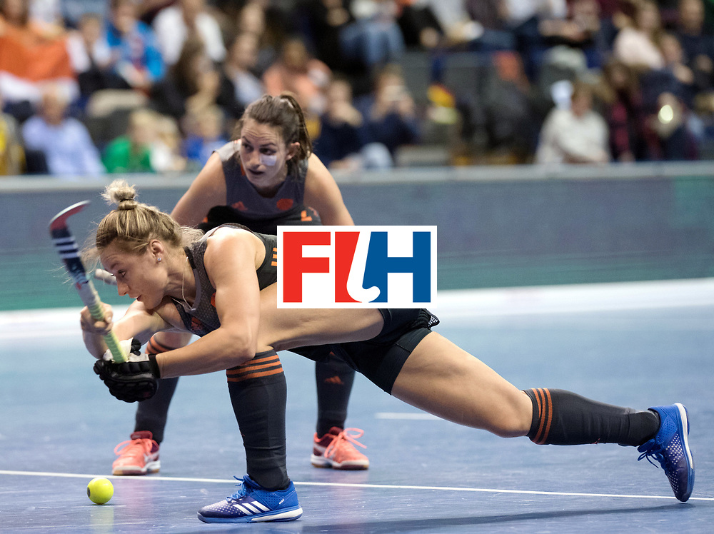 BERLIN - Indoor Hockey World Cup<br /> SF1 Netherlands - Ukraine<br /> foto: Lieke van Wijk <br /> WORLDSPORTPICS COPYRIGHT FRANK UIJLENBROEK