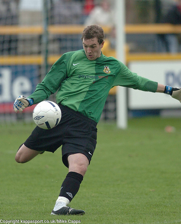 ROBINSON GOALKEEPER SOUTHPORT FC, Southport v Kettering Town Conference Saturday 28th October 2006