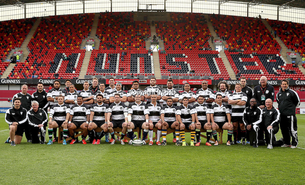 Barbarians Summer Tour Match, Thomond Park, Limerick 28/5/2015 <br /> Ireland XV vs Barbarians<br /> The Barbarians team<br /> Mandatory Credit &copy;INPHO/Billy Stickland