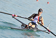 Banyoles, SPAIN,   GBR LM1X, Adam FREEMAN-PASK, moves away from the start, during his heat of the Men's Lightweight single sculls at the, FISA World Cup Rd 1. Lake Banyoles  Friday 29/05/2009   [Mandatory Credit. Peter Spurrier/Intersport Images]