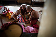 The monks have several hours of free time each day after lunch before continuing studies in the early afternoon.