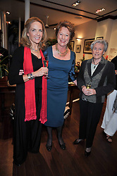 Left to right, MARLENE McCAY, LADY OLIVER and HERMIONE CROSFIELD OBE at a reception in aid of Save The Elephants held at Patrick Mavros, 104-106 Fulham Road, Lodon SW3 on 23rd September 2009.