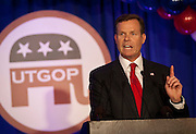Utah Attorney general John Swallow speaks at the Utah Republican Party results party, Tuesday, Nov. 6, 2012.