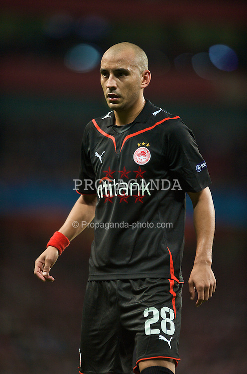LONDON, ENGLAND - TUESDAY, SEPTEMBER 29th, 2009: Olympiakos' Cristian Ledesma during the UEFA Champions League Group H match at the Emirates Stadium. (Photo by Chris Brunskill/Propaganda)