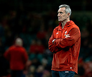 Attack Coach Rob Howley of Wales during the pre match warm up<br /> <br /> Photographer Simon King/Replay Images<br /> <br /> Under Armour Series - Wales v South Africa - Saturday 24th November 2018 - Principality Stadium - Cardiff<br /> <br /> World Copyright &copy; Replay Images . All rights reserved. info@replayimages.co.uk - http://replayimages.co.uk