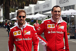 (L to R): Sebastian Vettel (GER) Ferrari with Riccardo Adami (ITA) Ferrari Race Engineer.<br /> 27.10.2016. Formula 1 World Championship, Rd 19, Mexican Grand Prix, Mexico City, Mexico, Preparation Day.<br />  <br /> / 271016 / action press