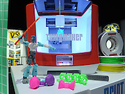 The ThingMaker 3D printer and app is displayed at the New York Toy Fair, Friday, Feb. 12, 2016, giving you the power to take your custom designs and make them real. (Photo by Diane Bondareff/AP Images for Mattel)