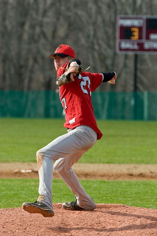 POMFRET, CONNECTICUT- APRIL 2009: The Pomfret School. Varsity baseball. Spring 2009. (Photo by Robert Falcetti - www.robertfalcetti.com). .
