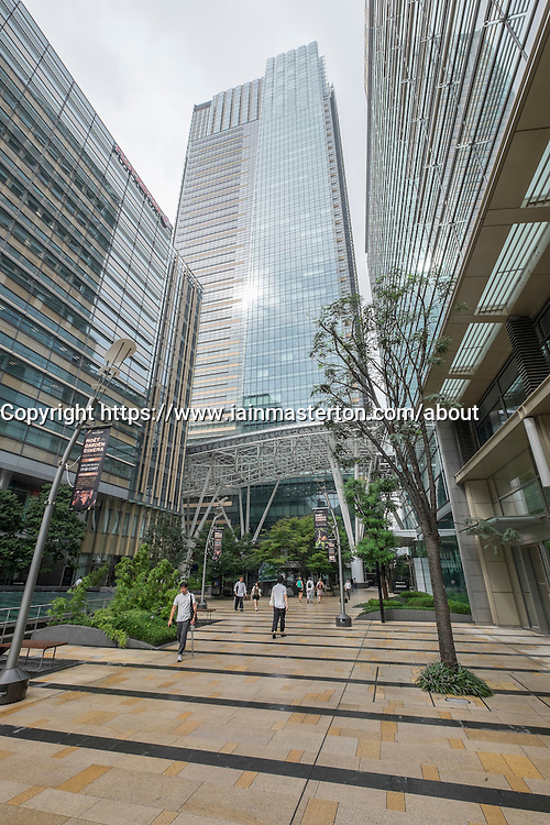 View of Tokyo Midtown property development in Roppongi Hills Tokyo Japan