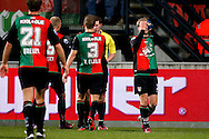 Onderwerp/Subject: NEC - Eredivisie<br /> Reklame:  <br /> Club/Team/Country: <br /> Seizoen/Season: 2012/2013<br /> FOTO/PHOTO: Nathaniel WILL (R) of NEC dejected as he leaves the pitch after a red card. (Photo by PICS UNITED)<br /> <br /> Trefwoorden/Keywords: <br /> #03 #05 $94 ±1355229055132<br /> Photo- & Copyrights © PICS UNITED <br /> P.O. Box 7164 - 5605 BE  EINDHOVEN (THE NETHERLANDS) <br /> Phone +31 (0)40 296 28 00 <br /> Fax +31 (0) 40 248 47 43 <br /> http://www.pics-united.com <br /> e-mail : sales@pics-united.com (If you would like to raise any issues regarding any aspects of products / service of PICS UNITED) or <br /> e-mail : sales@pics-united.com   <br /> <br /> ATTENTIE: <br /> Publicatie ook bij aanbieding door derden is slechts toegestaan na verkregen toestemming van Pics United. <br /> VOLLEDIGE NAAMSVERMELDING IS VERPLICHT! (© PICS UNITED/Naam Fotograaf, zie veld 4 van de bestandsinfo 'credits') <br /> ATTENTION:  <br /> © Pics United. Reproduction/publication of this photo by any parties is only permitted after authorisation is sought and obtained from  PICS UNITED- THE NETHERLANDS
