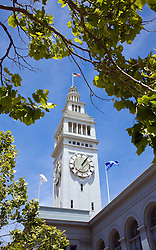 San Francisco, CA:  The Ferry Building at the foot of Market Street, on the Embarcadero