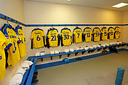 The away dressing room at the University of Bolton Stadium  during the EFL Sky Bet League 1 match between Bolton Wanderers and AFC Wimbledon at the University of  Bolton Stadium, Bolton, England on 7 December 2019.