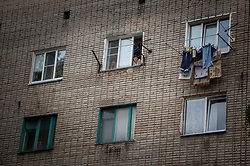 July 6, 2018 - Tambov, Tambov region, Russia - Life of people in old houses (Russian hostels). Photo taken in the area of ''White Tank' (Credit Image: © Aleksei Sukhorukov via ZUMA Wire)
