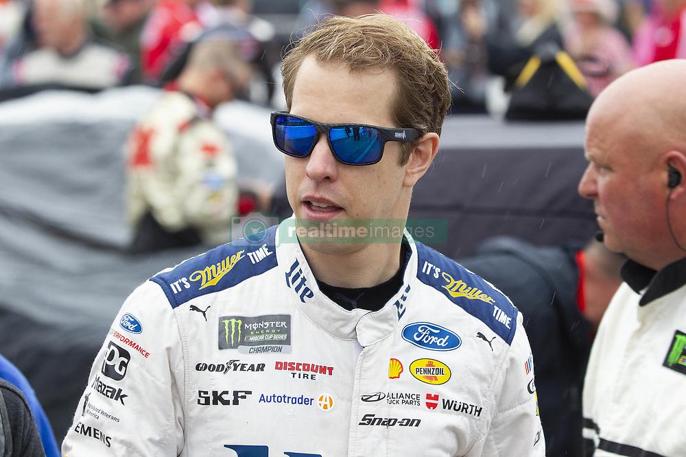 June 10, 2018 - Brooklyn, Michigan, U.S - NASCAR driver BRAD KESELOWSKI (2) walks in the pit area at Michigan International Speedway. (Credit Image: © Scott Mapes via ZUMA Wire)