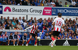 Janoi Donacien of Ipswich Town and Aidan McGeady of Sunderland tussle for the ball - Mandatory by-line: Arron Gent/JMP - 10/08/2019 - FOOTBALL - Portman Road - Ipswich, England - Ipswich Town v Sunderland - Sky Bet League One