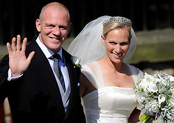 Wedding of Zara Phillips and Mike Tindall at Canongate Kirk Church, Edinburgh, Saturday July 30th 2011. Photo by : Andrew Parsons / i-Images<br />