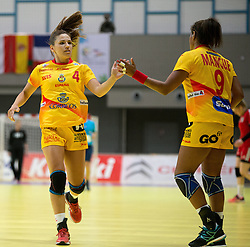 01.06.2016 , Olympiaworld, Innsbruck, AUT, EHF, Frauen EM Qualifikation, Österreich vs Spanien, im Bild v.l.n.r.: Carmen Martin Berenguer (Spanien) und Marta Mangue Gonzalez (Spanien) // during the during the EHF womens Handball Euro Qualification match between Austria and Spain at the Olympiaworld in Innsbruck, Austria on 2016/06/01. EXPA Pictures © 2016, PhotoCredit: EXPA/ Jakob Gruber