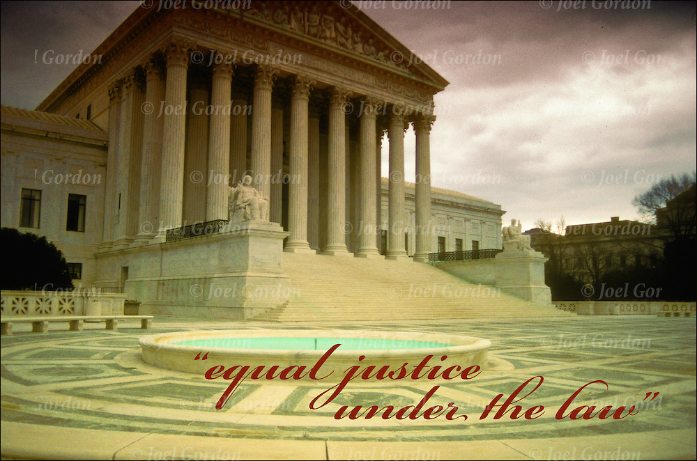 """Equal Justice Under the Law"" United States Supreme Court Building in Washington, DC..Supreme Court - GOR-7508H"