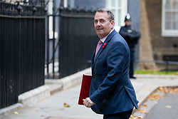 © Licensed to London News Pictures. 29/10/2018. London, UK. International Trade Secretary Liam Fox arriving in Downing Street for a cabinet meeting, ahead of the Chancellor of the Exchequer Philip Hammond's autumn budget statement this afternoon. Photo credit : Tom Nicholson/LNP