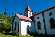 The christian church of Vao, Ile des Pins, New Caledonia, Melanesia, South Pacific