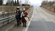 Modern-day knight crosses Canada on horseback to spread values of chivalry<br /> <br /> A 22-year-old Quebecois man is a on a quest to revive the values he says have been lost to the modern world: devotion, honesty, respect and goodness.<br /> Taking matters into his own hands, Vincent Gabriel Kirouac has decided that by trekking across Canada, dressed in full knight regalia atop his trusty steed Coeur-de-Lion (Lionheart), he will single-handedly usher in a new era of chivalry.<br /> He is already six weeks into his trip and has acquired more than a few fans along the way.<br /> 'The principle is rather simple, though strict: First, across Canada and back, on horseback, to help others through service, educating as to mutual solidarity, by simply giving free and the next,' he says on his website.<br /> He plans on surviving on donations through his website as well as the generosity of strangers he meets along the way.<br /> <br /> But it's not charity he's after, he plans to work the fields and help the farms and homesteads he comes across in any way they require.<br /> 'The legendary Canadian hospitality will again be put to the test,' he says.<br /> <br /> He began his trip in a small town called Riviere-du-Loup and worked for two years to fund his journey.<br /> He was inspired by his devout Catholic faith to undertake the curious quest and he has not yet been disappointed.<br /> A section of his website is devoted to religion, as people inspired by his journey often are called to prayer, wishing him only the best experiences on his trip.<br /> This is only the first trip he plans to take. In 2014, Mr Kirouac will venture across Europe from Edinburgh to Jerusalem.<br /> 'I think this adventure is worth living. Not only for me but more because I hope to answer a problem that our society has: isolation,' he says.<br /> 'Holiness, Faith, Courage and Forgiveness, Respect, Humility, Justice, Devotion, Honesty, Goodness and prowess are the virtues of a sincere heart... [This] is the key of the project.'<br /> ©exclusivepix