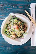 Nori Salmon Tartare<br /> Ginger, Jalapeño, Chives, Sesame-Soy at Navy Beach restaurant, Montauk, East Hampton, NY