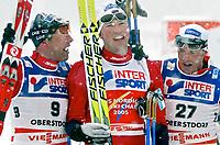 ◊Copyright:<br />GEPA pictures<br />◊Photographer:<br />Doris Hoefler<br />◊Name:<br />Estil<br />◊Rubric:<br />Sport<br />◊Type:<br />Ski nordisch, Skispringen<br />◊Event:<br />FIS Nordische Ski-Weltmeisterschaft, WM 2005, Nordische Kombination, Sprint<br />◊Site:<br />Oberstdorf, Deutschland<br />◊Date:<br />27/02/05<br />◊Description:<br />Odd-Bjoern Hjelmeset (NOR), Frode Estil (NOR), Anders Aukland (NOR)<br />◊Archive:<br />DCSHO-2702054832<br />◊RegDate:<br />27.02.2005<br />◊Note:<br />8 MB - MP/WU - Nutzungshinweis: Es gelten unsere Allgemeinen Geschaeftsbedingungen (AGB) bzw. Sondervereinbarungen in schriftlicher Form. Die AGB finden Sie auf www.GEPA-pictures.com.<br />Use of picture only according to written agreements or to our business terms as shown on our website www.GEPA-pictures.com.
