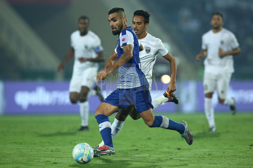Dimas Delgado Morgado of Bengaluru FC runs with the ball during match 19 of the Hero Indian Super League between NorthEast United FC and Bengaluru FC held at the Indira Gandhi Athletic Stadium, Guwahati India on the 8th December 2017<br /> <br /> Photo by: Deepak Malik  / ISL / SPORTZPICS