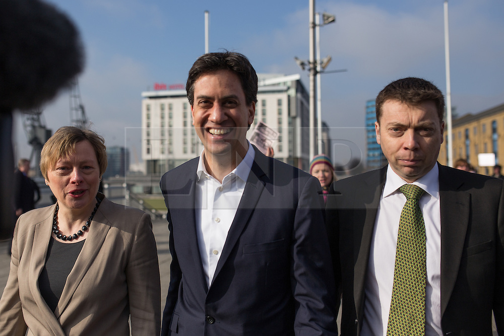 "© Licensed to London News Pictures . 01/03/2014 . London , UK . Iain McNicol , Ed Miliband and Angela Eagle arrive at the conference . The Labour Party hold a one day "" Special Conference "" at the Excel Centre in London today (Saturday 1st March 2014) . Photo credit : Joel Goodman/LNP"