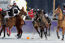 Cereceda Manuel of team Germany going for the ball<br /> Match Germany - Switzerland<br /> St.Moritz Polo World Cup On Snow 2011<br /> © Dirk Caremans