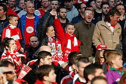 Bristol City celebrate  in the stands with their side 2-0 up in the match - Photo mandatory by-line: Rogan Thomson/JMP - 07966 386802 - 22/03/2015 - SPORT - FOOTBALL - London, England - Wembley Stadium - Bristol City v Walsall - Johnstone's Paint Trophy Final.
