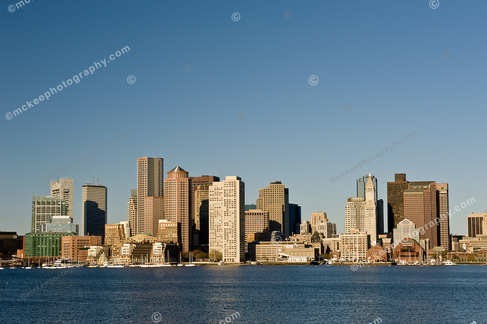 The Boston Skyline from East Boston