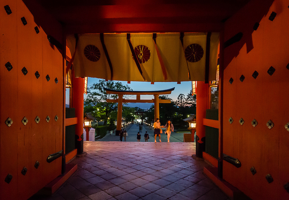 The gates to Fushimi Inari shrine.