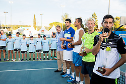 Marko Umberger, Franko Skugor (CRO) and Lukos Rosol (CZE), Andrei Vasilievski (BLR) and Hans Podlipnik - Castillo (CHI)  at trophy ceremony after the Doubles Final during Tennis tournament  ATP Challenger Zavarovalnica Sava Slovenia Open 2017, on August 11, 2017 in Sports centre, Portoroz/Portorose, Slovenia. Photo by Vid Ponikvar / Sportida