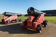 USA, Washington, Fort Vancouver National Historic Site, lagre cannon.