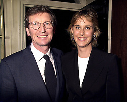 MR DAVID & the HON.MRS MONTGOMERY, at a party in London on 3rd October 2000.OHN 74