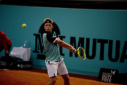 May 6, 2019 - Madrid, Spain - Alejandro Davidovich Fokina (SPA) in his match against Richard Gasquet (FRA) during day three of the Mutua Madrid Open at La Caja Magica in Madrid on 6th May, 2019. (Credit Image: © Juan Carlos Lucas/NurPhoto via ZUMA Press)