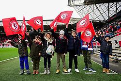 Flagbearers prior to kick off - Mandatory by-line: Ryan Hiscott/JMP - 22/02/2020 - FOOTBALL - Ashton Gate - Bristol, England - Bristol City v West Bromwich Albion - Sky Bet Championship