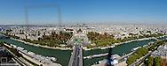 Paris, city panorama, Trocadero, Seine, France, Ile-de-France