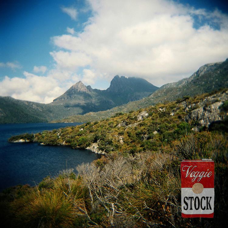 Dove Lake with Cradle Mountain in the background, Tasmania, Australia, April 2009.
